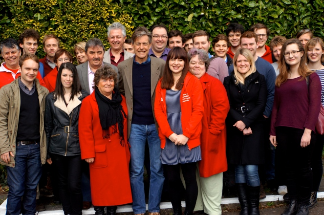 Ben Bradshaw with Exeter Labour candidates and activists