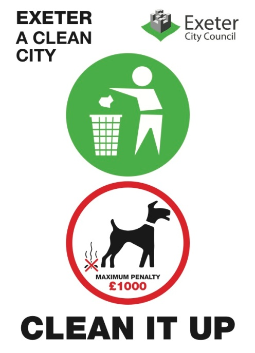 ECC Clean It Up sticker for use of litter bins