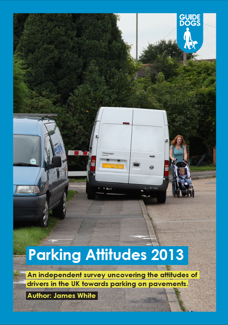 Cover of Guide Dog's Parking Attitudes Survey 2013