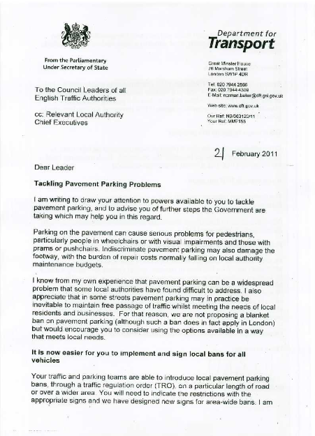 norman-baker-letter-on-pavement-parking-1