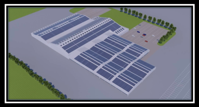 3D image of Livestock Centre 1.5MW array (currently being installed)
