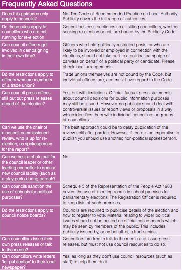 LGA - Purdah FAQ 01