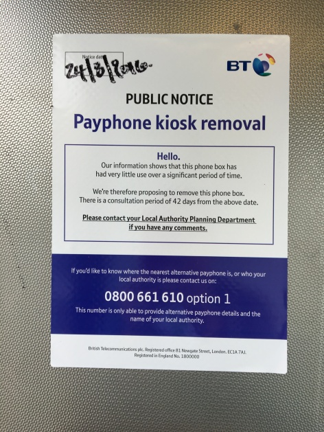 Gloucester Road notice