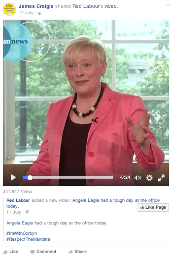 Angela Eagle has a tough day at the office