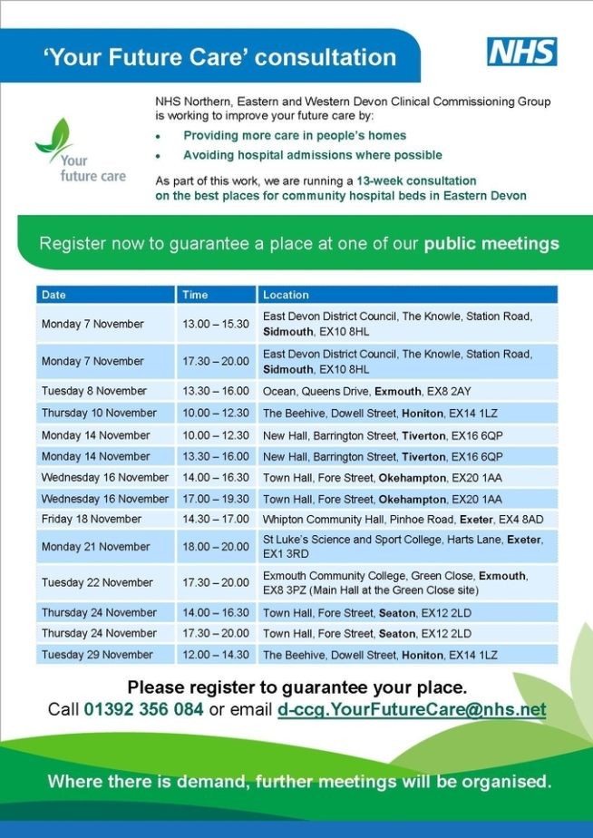 Your Future Care consultation events